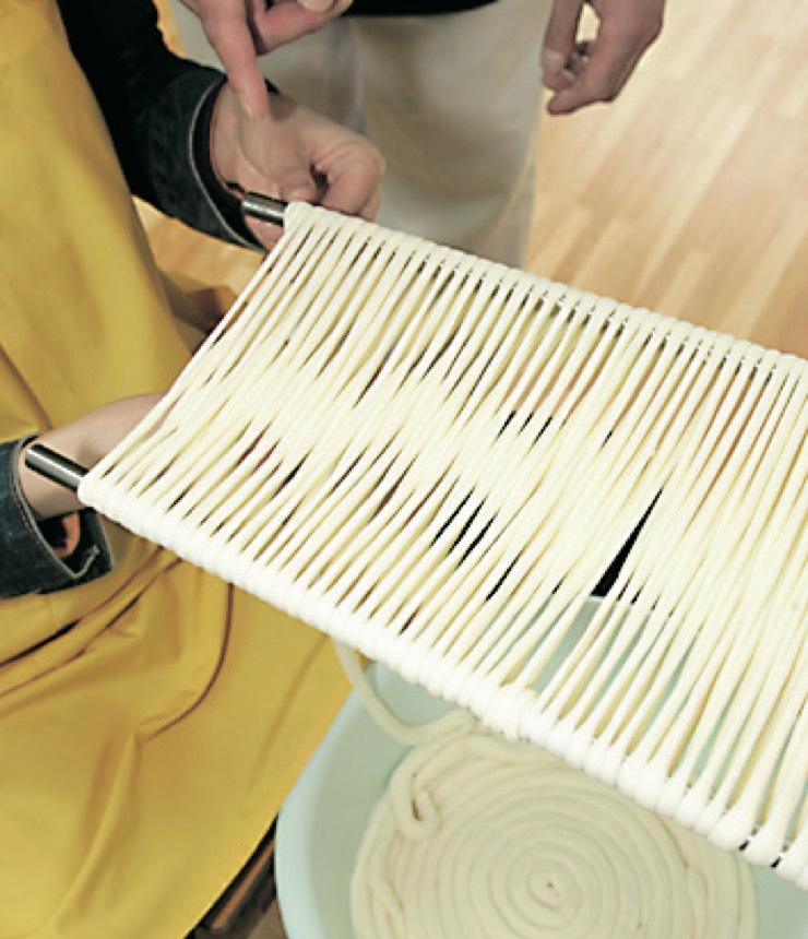 佐藤養助 製造体験コース 稲庭うどん製造時写真